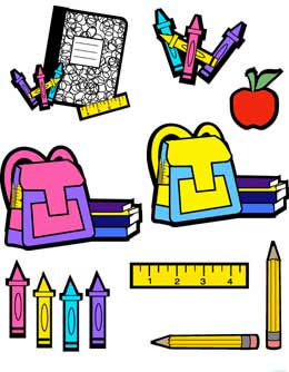 260x334 School supplies clip art border free clipart images 2 –