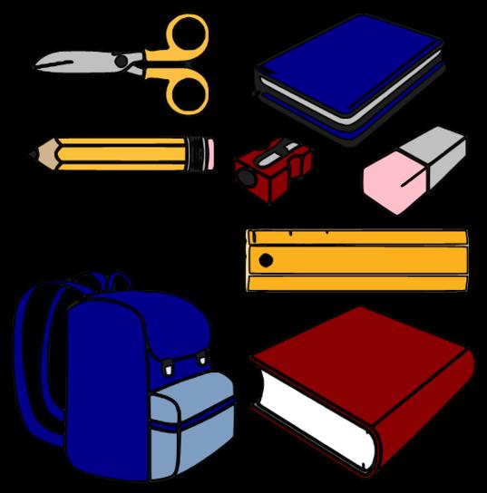 537x544 Clip Art School Supplies Many Interesting Cliparts