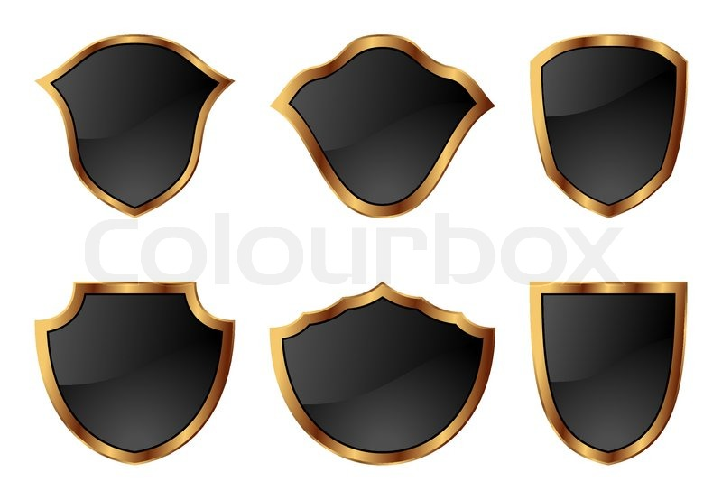 800x554 Illustration Set Of Shields In 6 Different Shapes