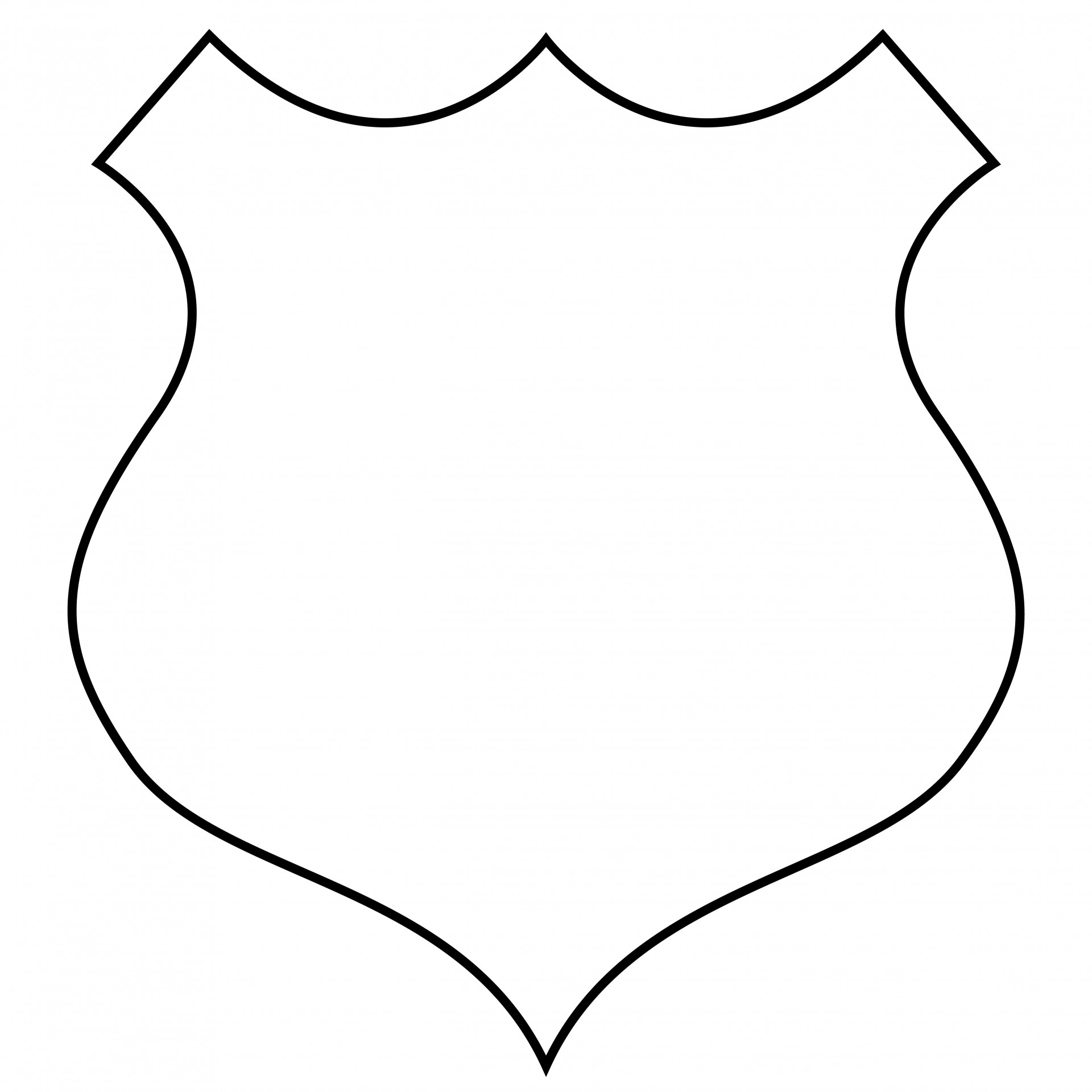 1920x1920 Badge, Shield Outline Clipart Free Stock Photo