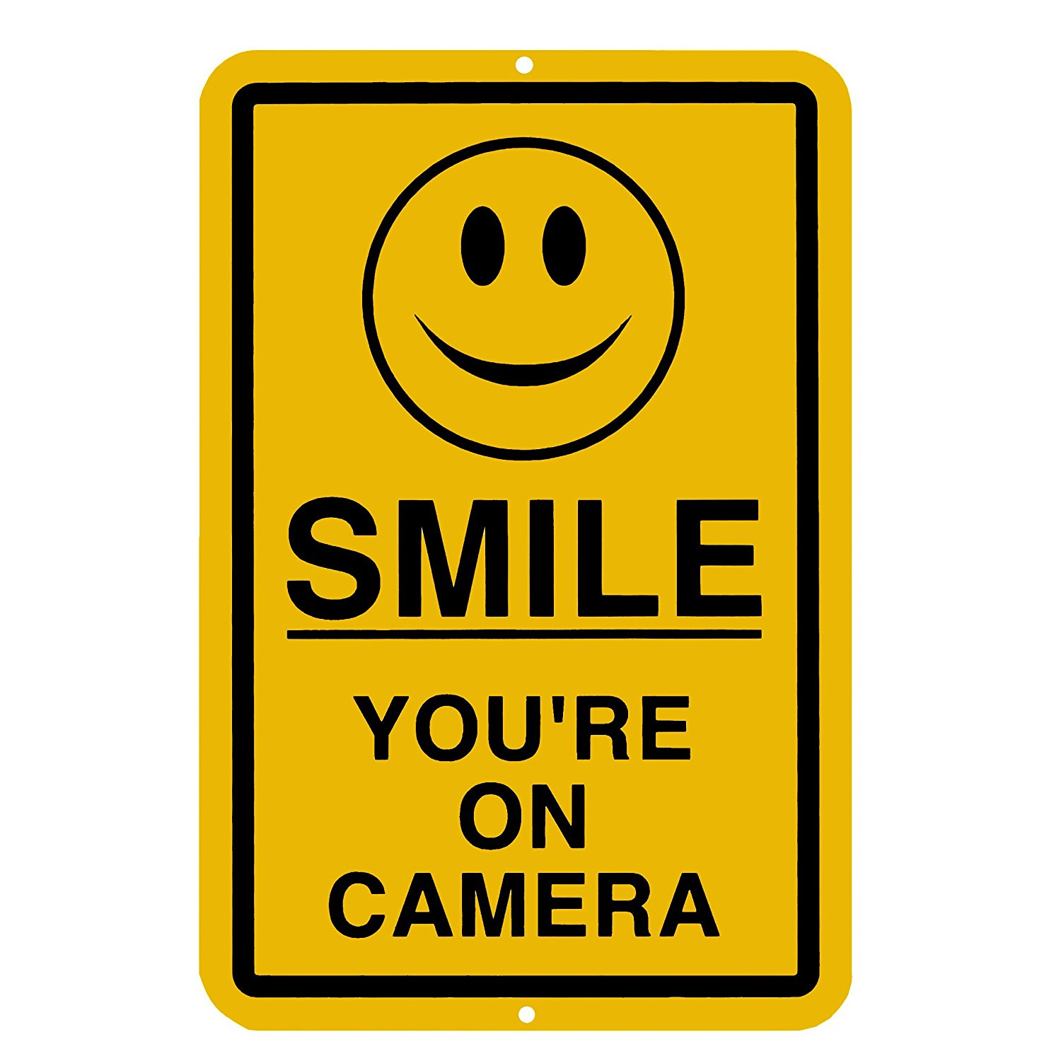 1500x1500 Smile You'Re On Camera Sign Security Waterproof