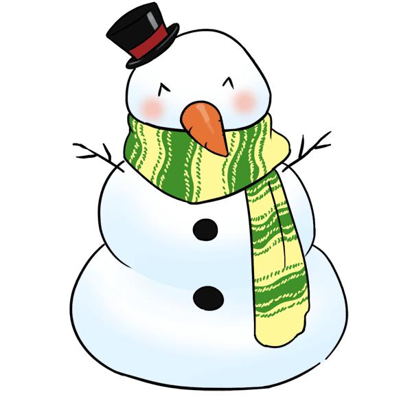 600x600 Clipart Snowman Clipartsiip 2