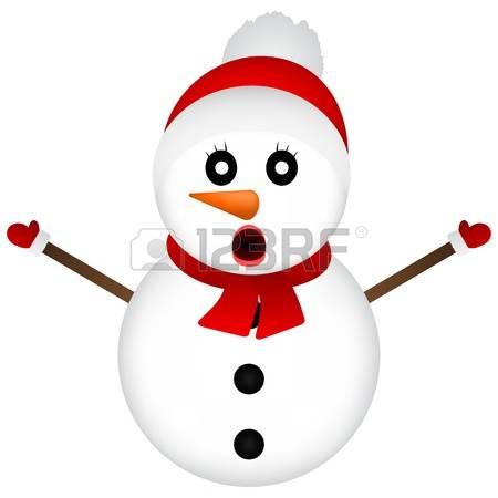 450x450 Free Surprised Snowman Clipart