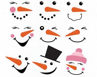 340x270 Snowman Faces Etsy
