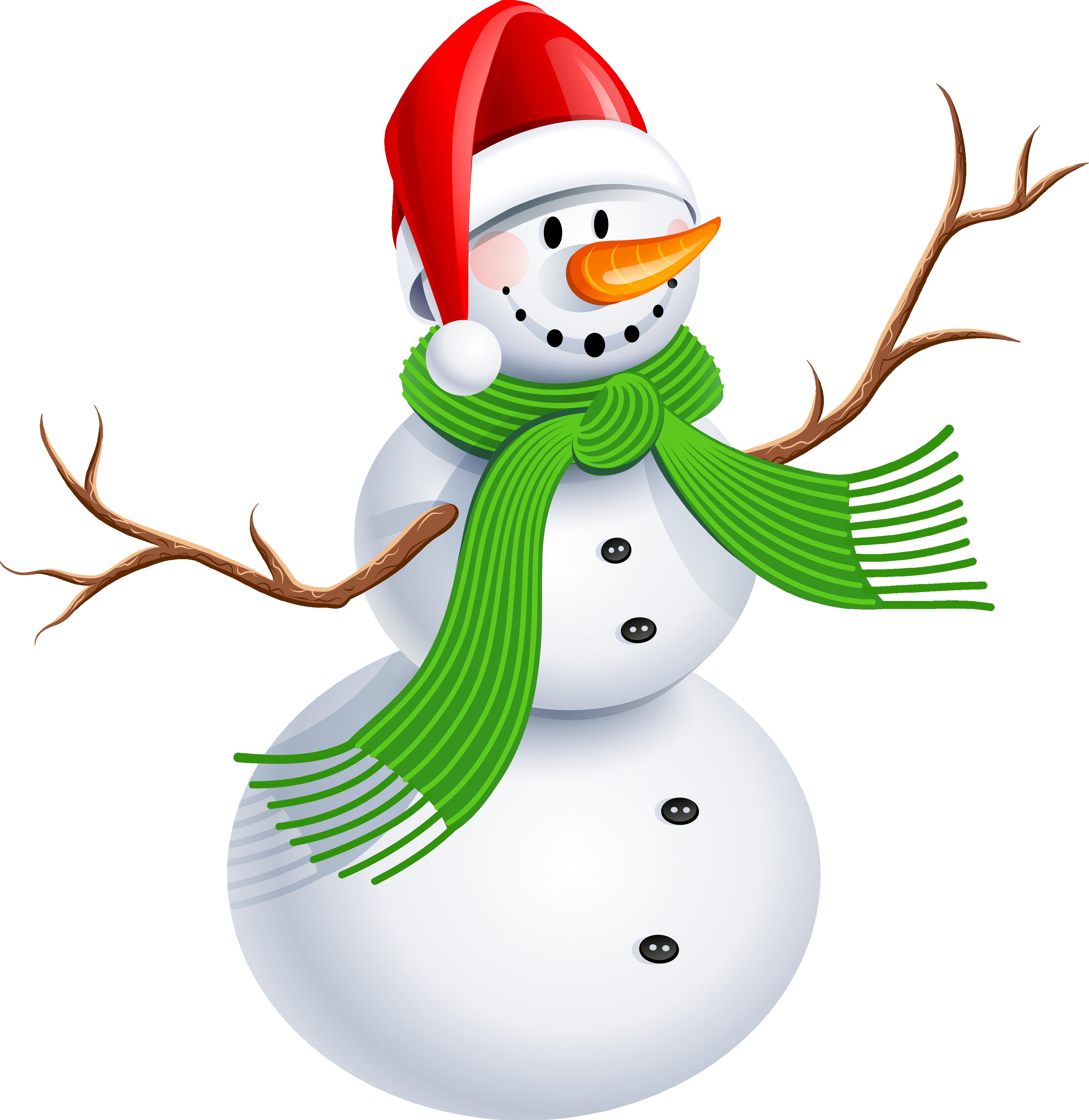 3417x3513 Cute Snowman Clipart Png