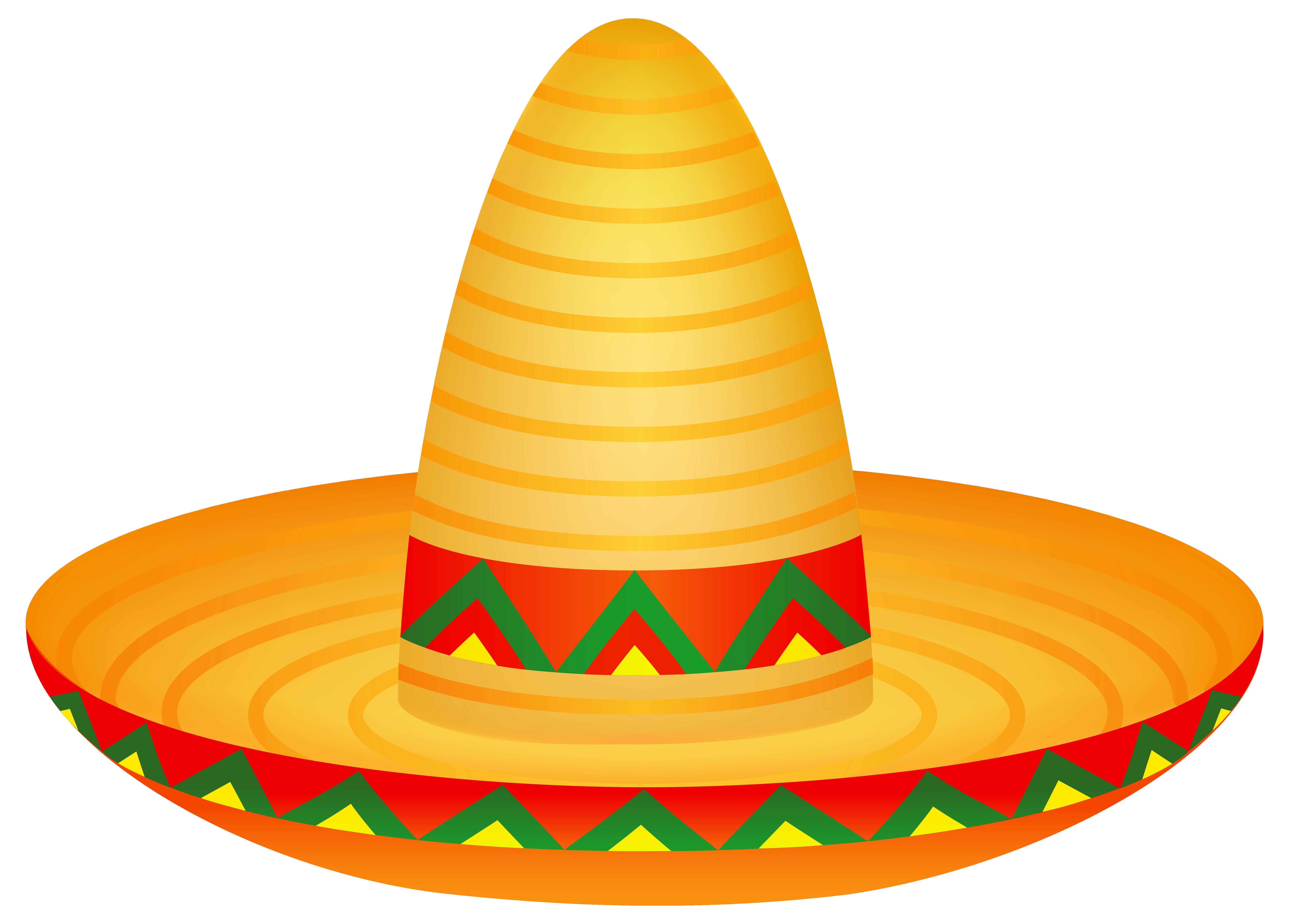 6395x4587 Free Clipart Sombrero