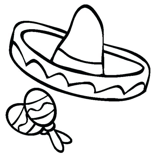 600x612 Sombrero Hat Coloring Pages Page Of Thaypiniphone