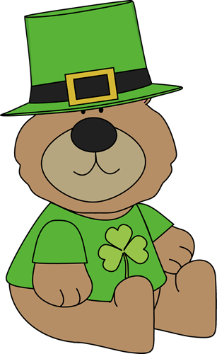 307x500 Saint Patrick's Day Bear Clip Art