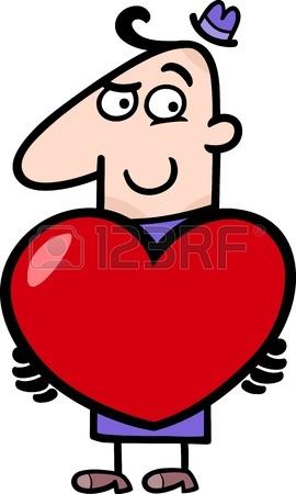 270x450 Cartoon Illustration Of Funny Man Reading Love Message