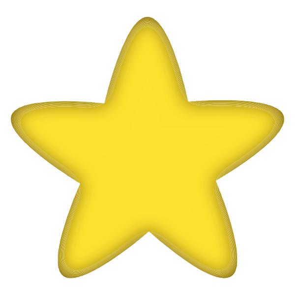600x600 Free Yellow Stars Clipart Image