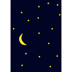 300x300 Night Moon And Stars Clipart