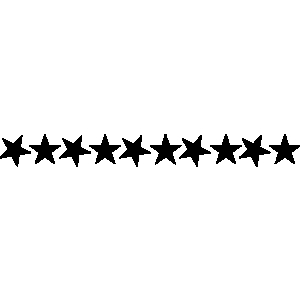 300x300 Stars Clipart A Line