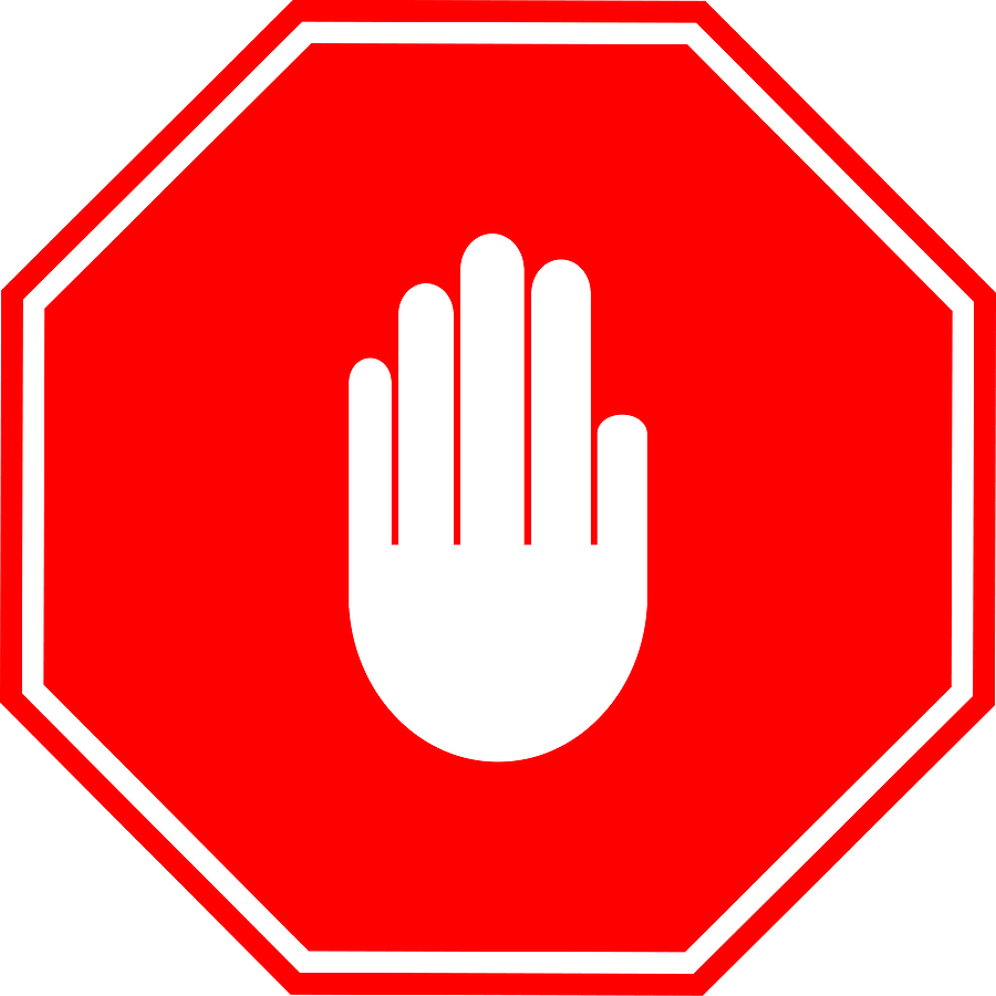 900x900 Hand Stop Sign Clipart 2
