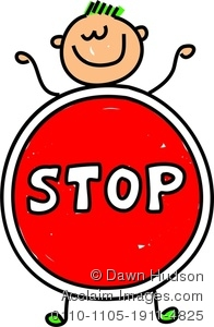 196x300 Happy Little Boy Dressed Up As A Stop Sign Clipart Image