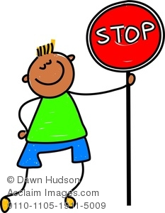 233x300 Image Of A Happy Little Boy Holding A Stop Sign