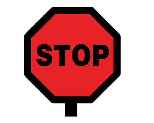 500x400 Stop Sign Poster