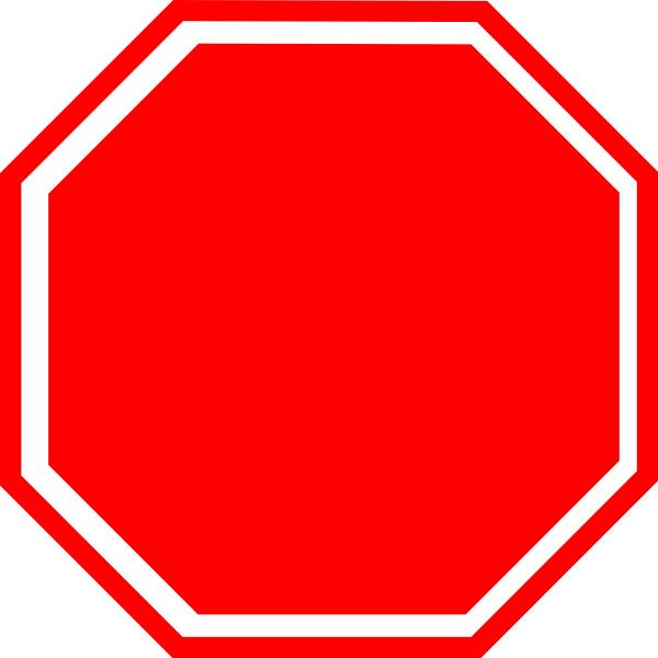 600x600 Stop Sign Clip Art The Cliparts