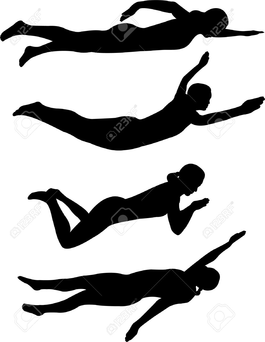 1010x1300 Swimming Clipart Backstroke Swimming
