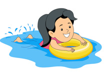 210x144 Swimming Clipart Shallow