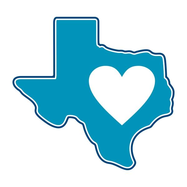 600x600 Texas Heart Flag Cuttable Design