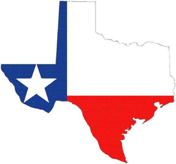 600x558 Texas Outline With Flag Clip Art