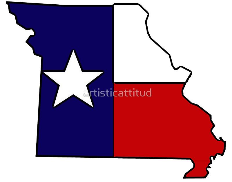 800x630 Missouri Outline Texas Flag Stickers By Artisticattitud Redbubble