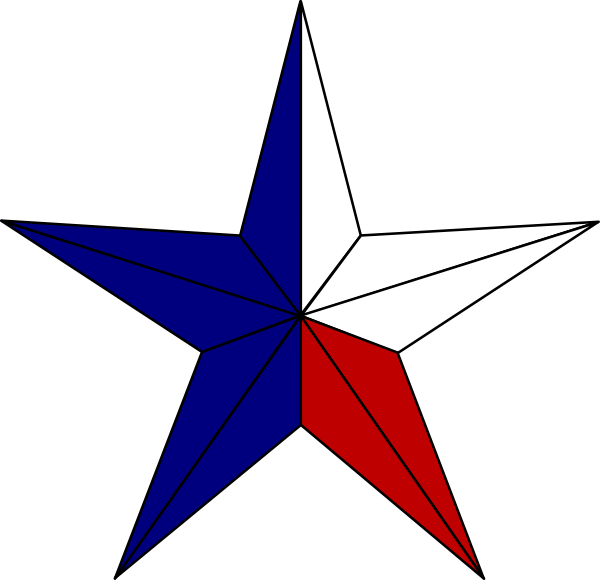 600x580 Star, Texas Clip Art