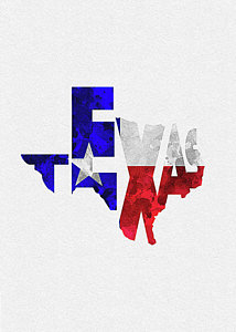 214x300 Texas Flag Art Fine Art America