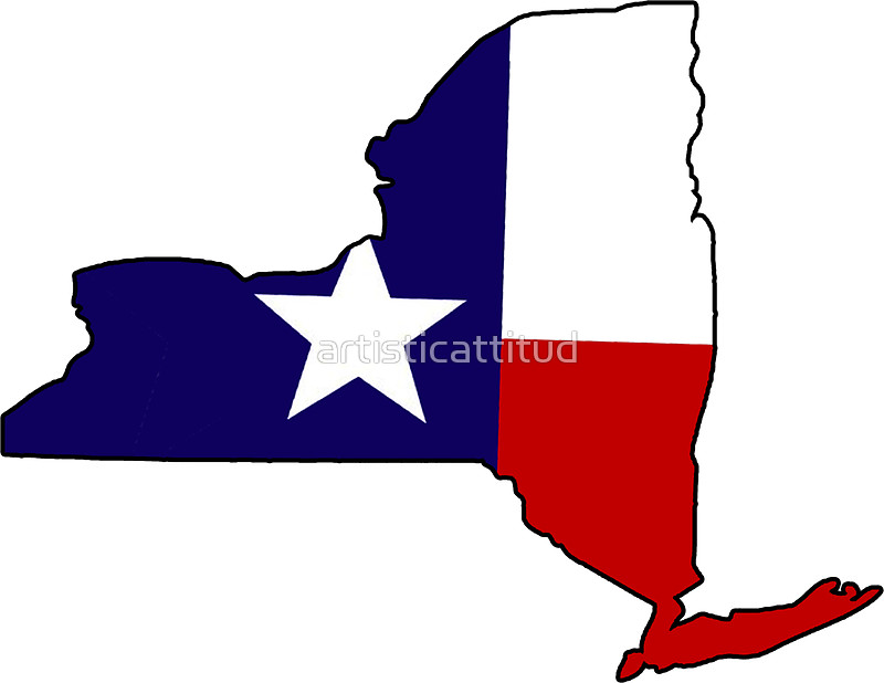 800x618 Texas Flag New York Outline Stickers By Artisticattitud Redbubble