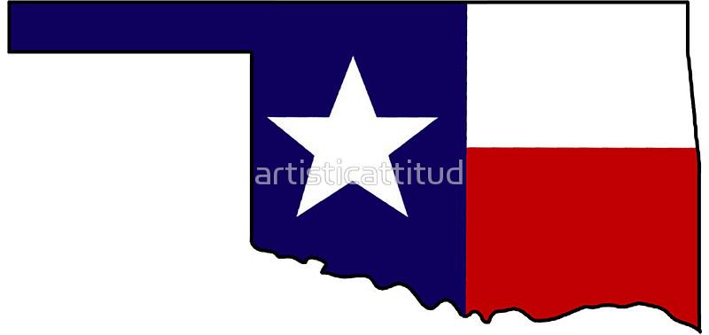800x378 Texas Flag Oklahoma Outline Stickers By Artisticattitud Redbubble