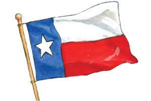 300x200 Animated Texas Flag Clipart
