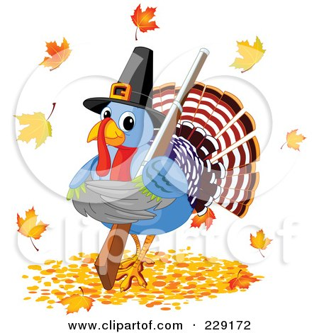 450x470 Cartoon Of A Cute Thanksgiving Pilgrim Woman Holding A Turkey Bird