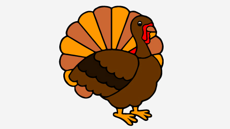 454x255 Top 10 Free Printable Thanksgiving Turkey Coloring Pages Online