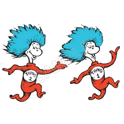 500x500 Dr. Seuss Thing1 And Thing2 T Shirt Iron On Transfer Decal