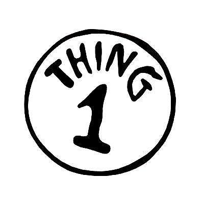 This is an image of Thing 1 Printable in editable
