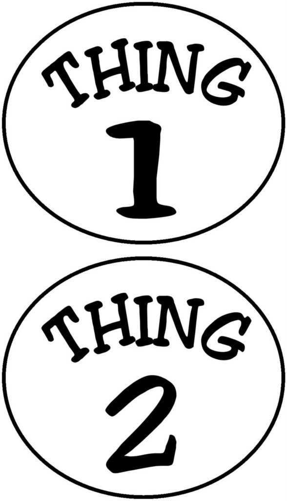 588x1024 Thing 1 And Thing 2 Circles Iron On Transfer Ebay