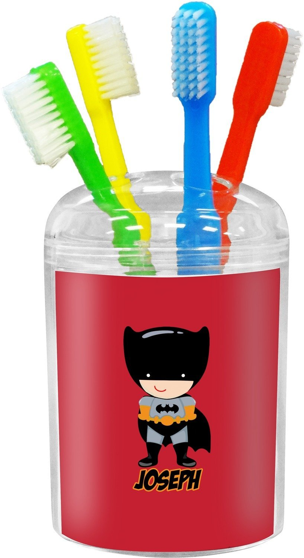 818x1500 Superhero Toothbrush Holder (Personalized) Home Amp Kitchen