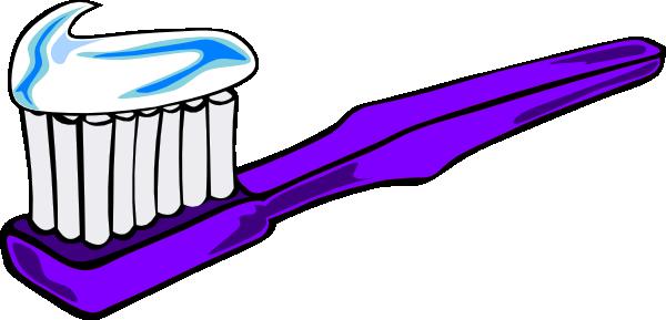 600x289 Purple Toothbrush Clip Art