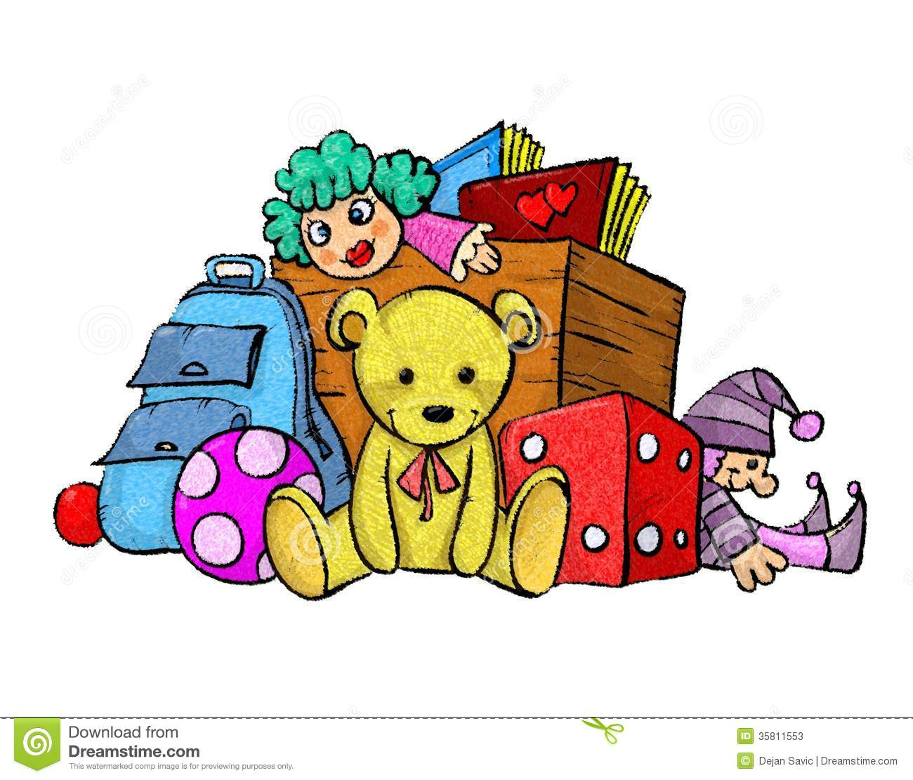 1300x1111 Pile Of Toys Clipart