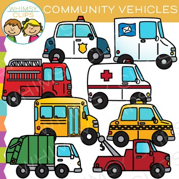 350x350 Community Transportation Clip Art By Whimsy Clips Tpt