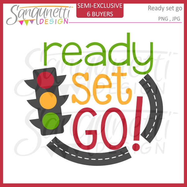600x600 Sanqunetti Design Ready Set Go Clipart Transportation