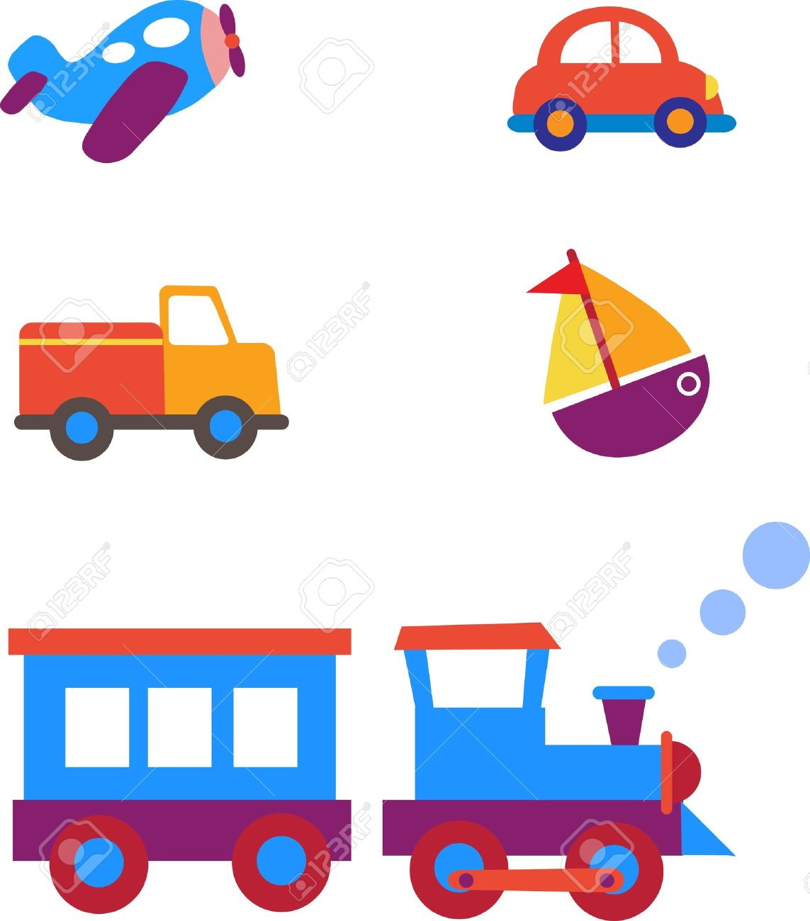 1143x1300 Toy Transportation Set Royalty Free Cliparts, Vectors, And Stock