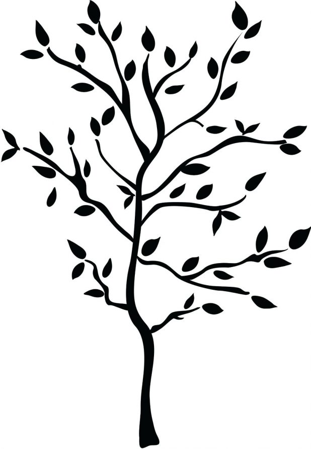 618x891 Coloring Pages Appealing Outline Of A Tree With Branches. Outline