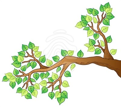 400x355 Image Of Branches Clipart