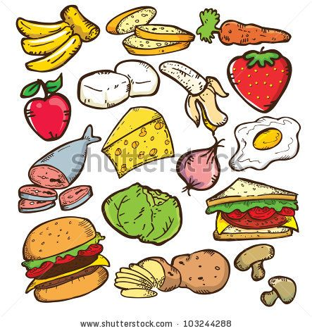Images Of Unhealthy Food Clipart