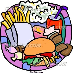 300x302 Clipart Of Junk Food