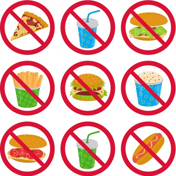 600x600 No Junk Food Clipart 101 Clip Art