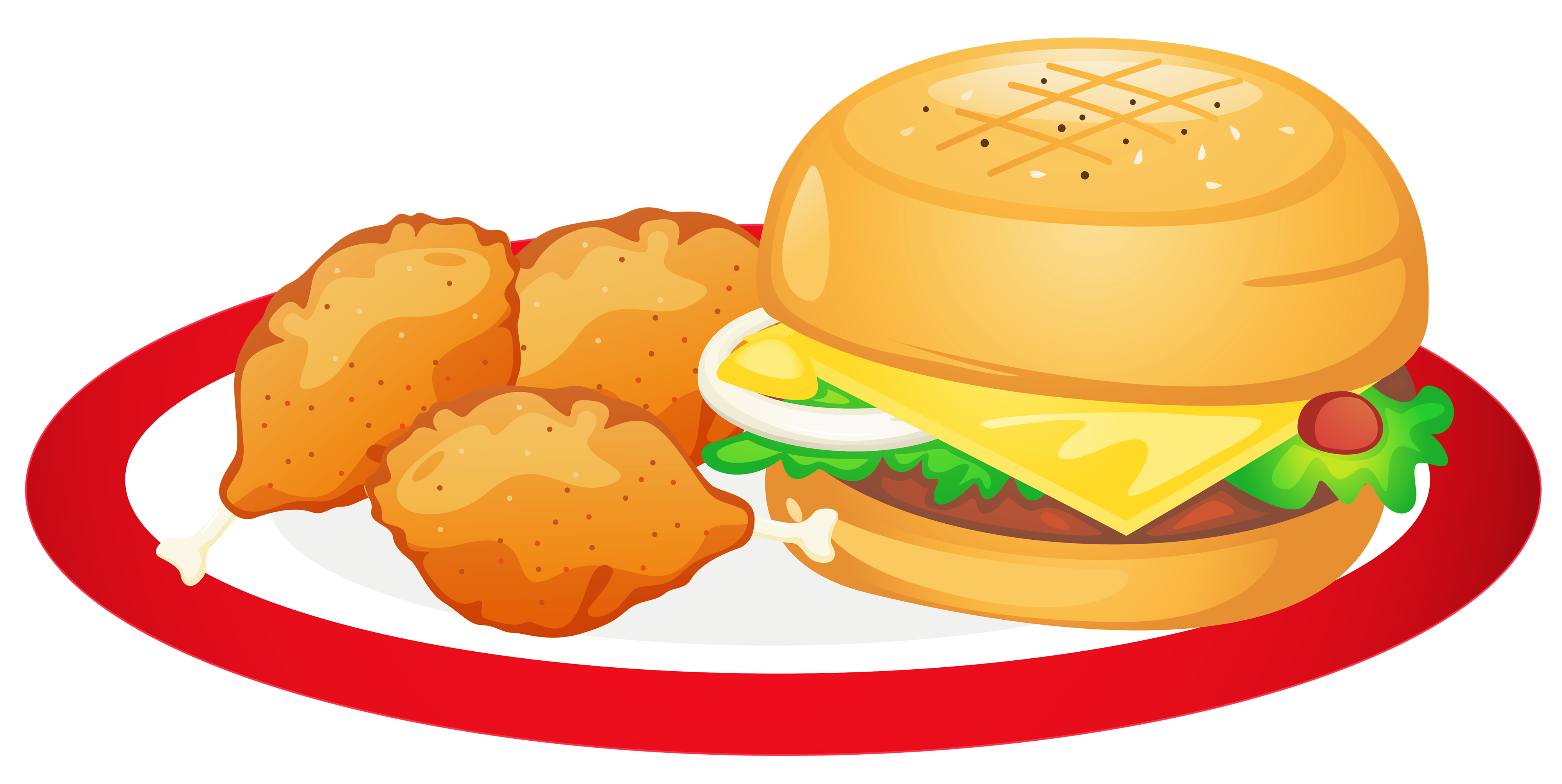 4000x2009 Plate Of Food Clipart Png