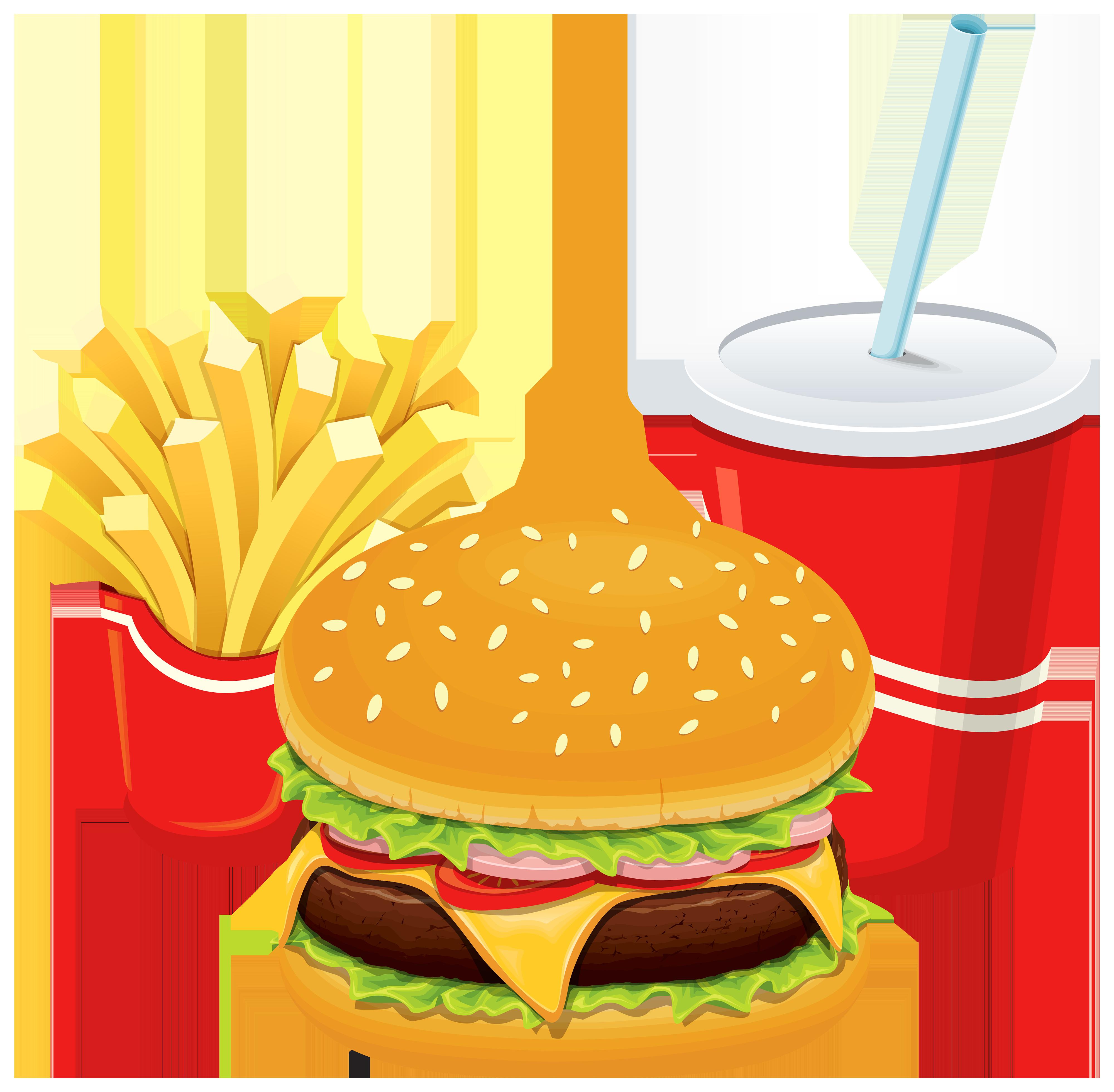 4000x3921 Burger Clipart Junk Food