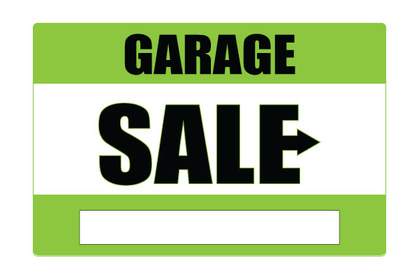 600x400 Printable Garage Sale Signs Green Free Download